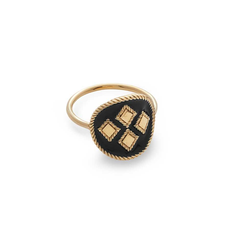 Penelope Cypria Black Ring PFJ.CYR032.BLK