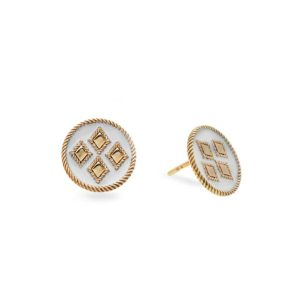 Penelope Cypria White Earrings PFJ.CYE033.WH