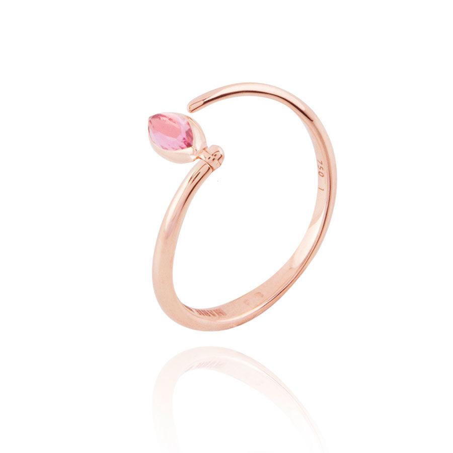 Marie Mas Swinging Diamond Spiral Ring