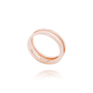 Marie Mas Pink Swiveling Wedding Band
