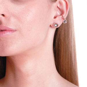 Marie Mas Swiveling Stud Earrings on model