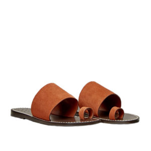 Trademark Taos Suede Cuoio Sandals