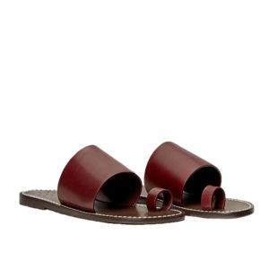 Trademark Taos Vachetta Burgundy Sandal