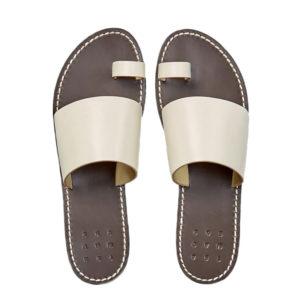 Trademark Taos Vachetta White Sandal