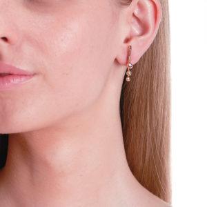 Marie Mas Dancing Diamond Pair of Earrings S on model ESDPGDTS16