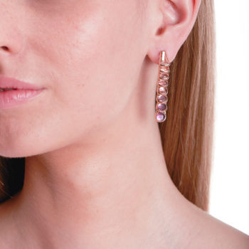 Marie Mas Dancing Earrings on model