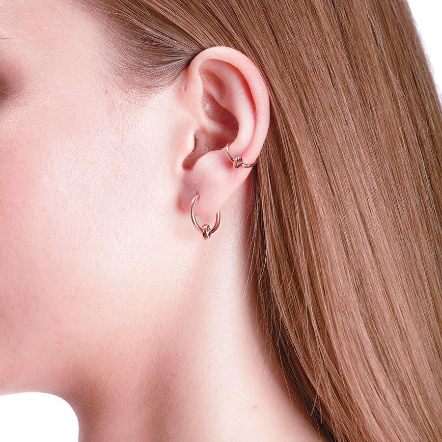 Marie Mas Swinging Diamond Ear Jewel S on model