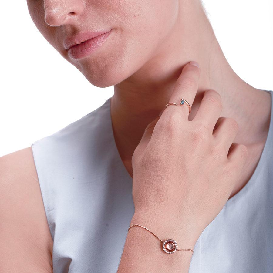 Marie Mas Swiveling Bracelet L on model