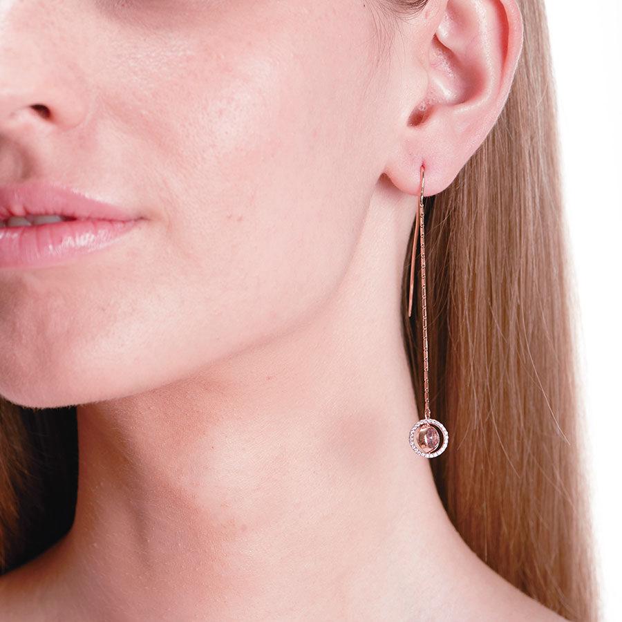 Marie Mas Swiveling Long Earrings on model