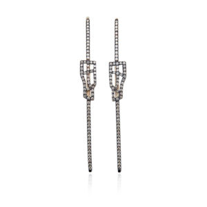 Polina Ellis Tephrippon Gold and Diamonds Earrings tethL8G18D