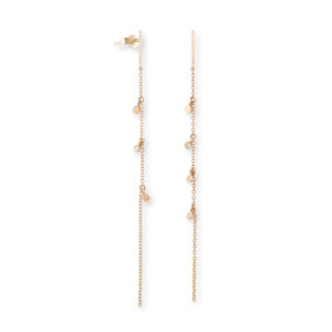 Eikosi Dyo Drops Chain Earrings EDE236A
