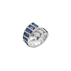 Atelier Swarovski Fluid Azzurro Wrap Ring Montana/Silvershade SW5489959