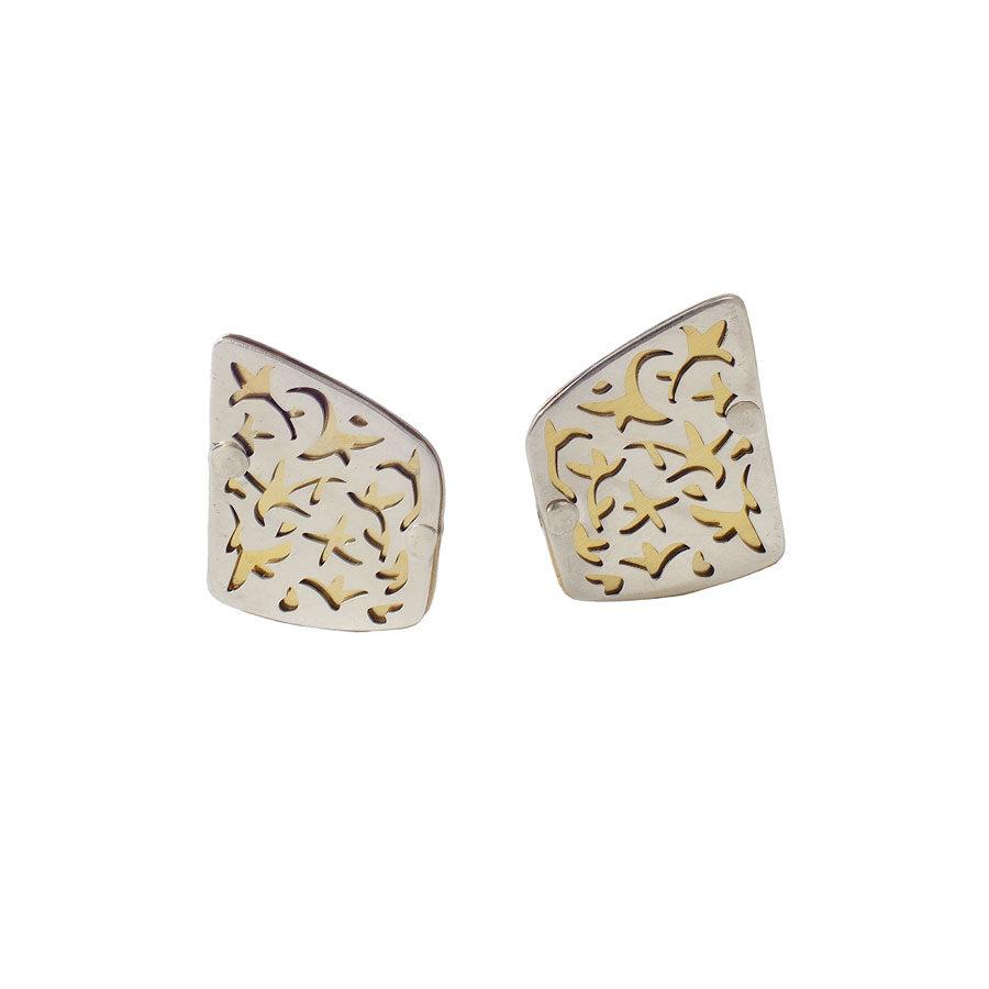 Juliette Polac Silver Clip Earrings JPEAR3