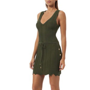 Arianna Knit Short Khaki Dress