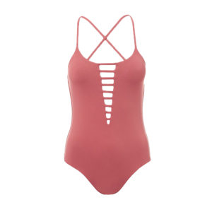 Melissa Odabash Formentera Cut-out Terracotta Swimsuit