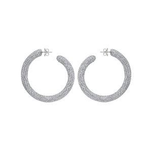 Atelier Swarovski Tigris Hoop Earrings Silvershade 5473000