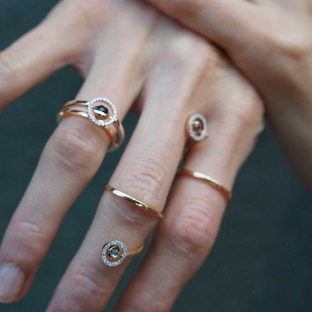 Marie Mas Campaign SS19 swiveling spiral ring
