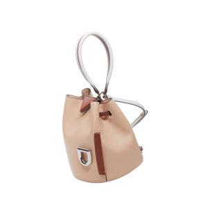 Danse Lente Josh Blush Chestnut Silver Handbag DL.P1919