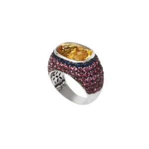 Maria Kaprili White Gold Gemstones Ring MKPRL.R03