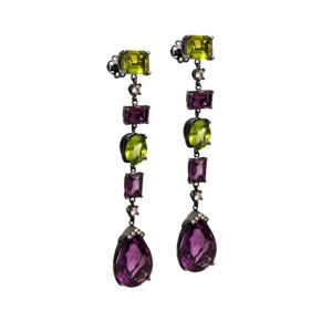 Maria Kaprili White Gold Gemstones Earrings MKPRL.EAR03