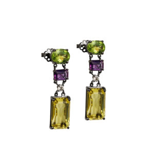 Maria Kaprili White Gold Gemstones Earrings MKPRL.EAR01