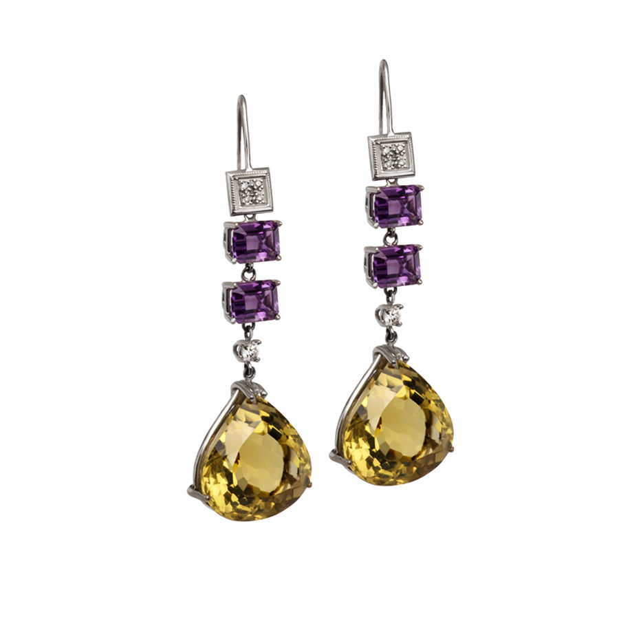 Maria Kaprili White Gold Gemstones Earrings MKPRL.EAR02