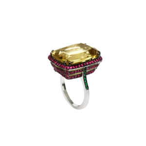Maria Karpili White Gold Gemstones Ring MKPRL.R01