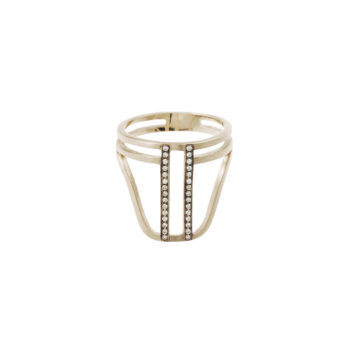 Polina Ellis Minotavros Gold Ring PSMTCdR5G18D02