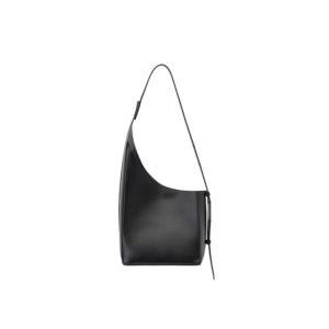 Aesther Ekme Demi Lune Assymetrical Black Bucket Bag 02PF19DLL02101