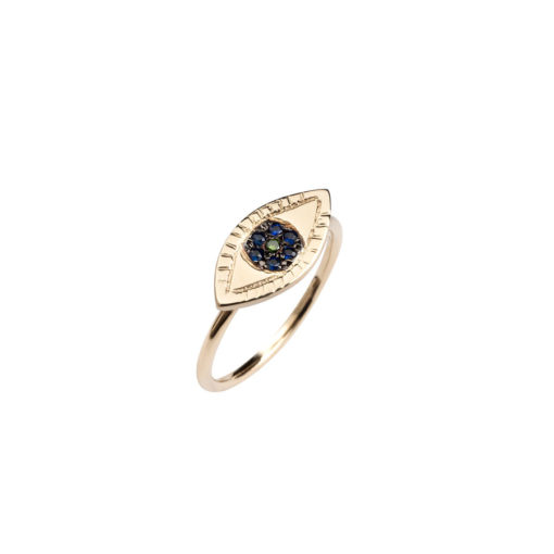 Maria Kaprili Yellow Gold Ring RZH-Y14EY-SA