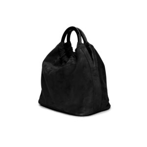 Marina Raphael CAMILA Bag In Coal Suede F2CASE01001