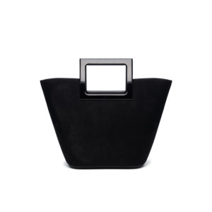 Marina Raphael RIVIERA MINI Bag In Coal Suede and Crystal F2RMSE06001