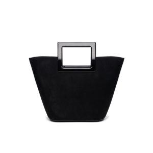 Marina Raphael Riviera Mini Bag in Coal Suede F2RMSE01001