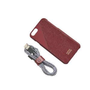 Native Union Leather Edition Set Case - Belt Cable Bordeaux