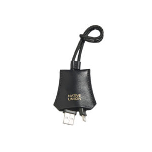 Native Union Lighting Cable with Leather Pouch Black