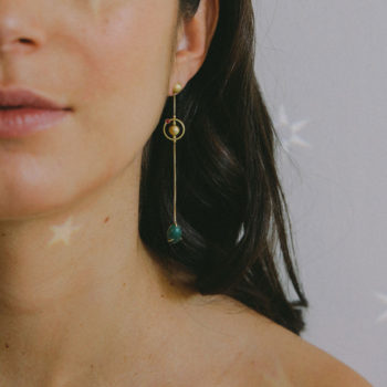 Pari Sofianou Pea Galaxies Earrings on model PSOFEAR5