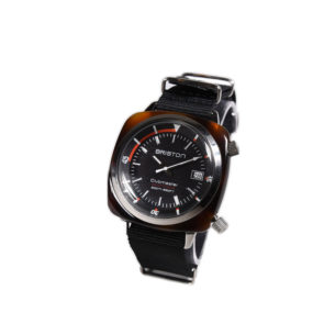 Briston Clubmaster Diver Acetate - Automatic HMS tortoise shell black dial