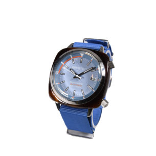 Briston Clubmaster Diver Acetate - Automatic HMS tortoise shell light blue dial