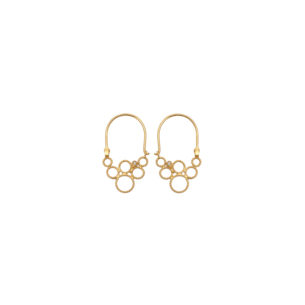 Christina Soubli Dentelles Tiny Hoop Earrings with Diamonds DEN15D