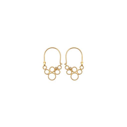 Christina Soubli Dentelles Tiny Hoop Earrings with Diamonds DEN15D