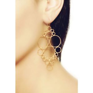 Christina Soubli Dentelles Princess Hook Earrings on model DEN22