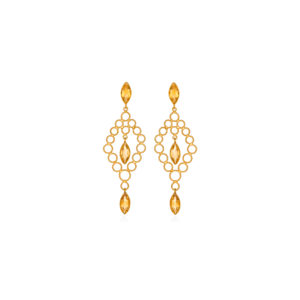 Christina Soubli Dentelles Chandelier Earrings with Citrines DEN42