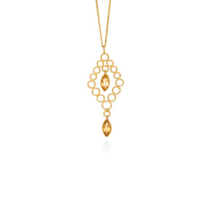Christina Soubli Dentelles Chandelier Pendant with Citrines DEN43