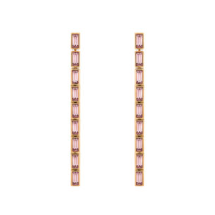Atelier Swarovski Fluid Detachable Long Earrings Pink Amethyst SW5520402
