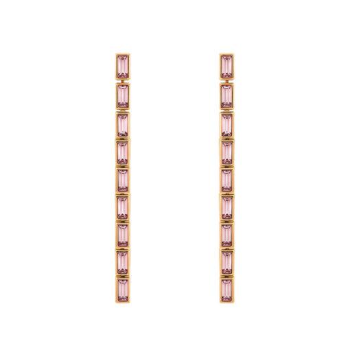 Atelier Swarovski Fluid Detachable Long Earrings Pink Amethyst SW5520402