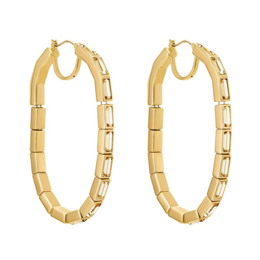 Atelier Swarovski Fluid Hoop Pierced Earrings Goldenshadow SW5519753