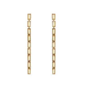 Atelier Swarovski Fluid Detachable Long Earrings Goldenshadow SW5519755
