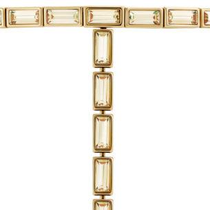 Atelier Swarovski Fluid Long Necklace Golden Shadow SW5519530