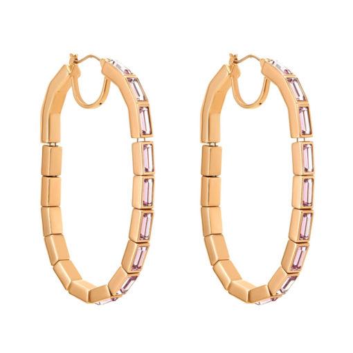 Atelier Swarovski Fluid Hoop Pierced Earrings Light Amethyst SW5520388