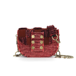 KOORELOO Fabric and Leather Shoulder Bag Pixel Orbit Red 10102.26.26